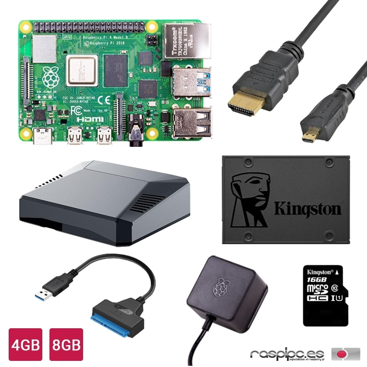 Kit Inicio Desktop PC Raspberry Pi 4/8GB