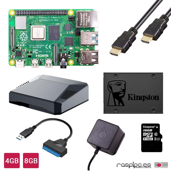 Kit Inicio Desktop PC con Raspberry Pi 4 de 4/8GB
